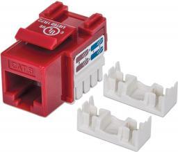 Intellinet Network Solutions Moduł Keystone CAT.6, UTP, RJ45, zaciskany, czerwony (210614)