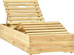 vidaXL Leżak impregnowane na zielono drewno sosnowe