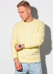 Ombre Bluza męska bez kaptura bawełniana B1146 - żółta S