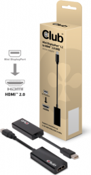 Kabel Club 3D DisplayPort Mini HDMI, 0.15m, Czarny (CAC-1170)