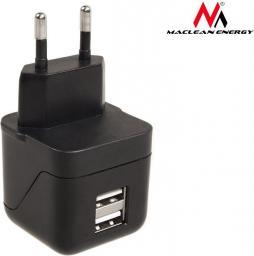 Ładowarka Maclean 2x USB 3.1A Czarna (MCE733)