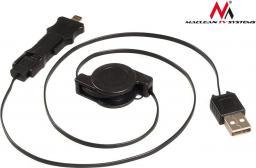 Kabel USB Maclean Lightning / microUSB / miniUSB 0.75m Czarny (MCTV-730)
