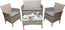 Selsey Zestaw mebli ogrodowych Bosti sofa z dwoma fotelami i stolikiem szary