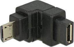 Adapter USB Delock Micro USB-B - Micro USB-B Czarny (65668)