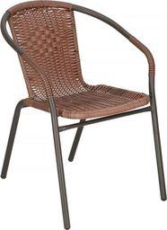 Springos Krzesło ogrodowe na taras metalowe brązowe UNIWERSALNY