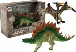 Import leantoys Zestaw Figurek Dinozaur Stegosaurus , Pteranodon