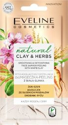 Eveline Clay&Herbs Maseczka-peeling Biała glinka