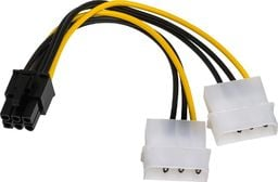 Akyga Adapter 2x Molex - PCI-Express 6-pin (AK-CA-13)