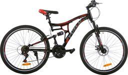 """Fuzlu Rower Perfect Power 1D 26"""" czarno-czerwony Eco"""