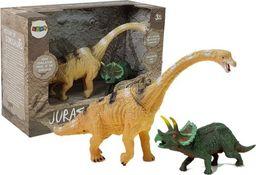 LEANToys Zestaw Figurek Dinozaur Brachiosaurus, Triceratops