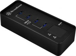 HUB USB SilverStone 4 portowy USB 3.0 (SST-EP03)