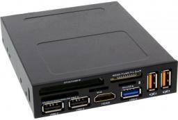 """Czytnik InLine Panel przedni 3.5"""" z czytnikiem kart, HDMI, USB 3.0 i 2.0 (33394V)"""