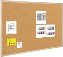 BI-OFFICE Tablica korkowa 100x80cm rama drewniana (GMC160012010)