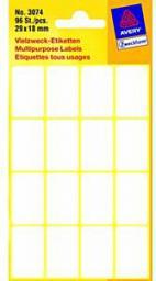 Avery Zweckform Białe minietykiety do opisywania ręcznego; 96 etyk./op., 29 x 18 mm, białe (4004182030745)