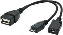Kabel USB Gembird USB A -> 2x USB B 0.15m (A-OTG-AFBM-04)
