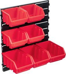 vidaXL 8-częściowy organizer na panelu ściennym, czerwono-czarny
