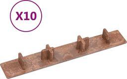 vidaXL Zatyczki końcowe do desek tarasowych, 10 szt., brązowe, plastik