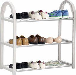 Springos Regał na buty z metalowymi 3 półkami szafka szary UNIWERSALNY