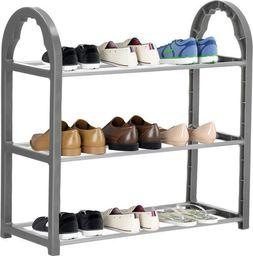 Springos Regał na buty z metalowymi 3 półkami szafka ciemnoszary UNIWERSALNY