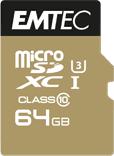 Karta Emtec Speedin Pro MicroSDXC 64 GB Class 10 UHS-I/U3  (ECMSDM64GXC10SP)