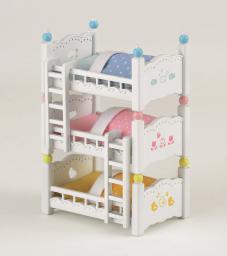 Epoch Sylvanian Families Potrójne łóżko piętrowe - (2919)