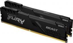 Pamięć Kingston Fury Beast, DDR4, 16 GB, 3600MHz, CL17 (KF436C17BBK2/16)