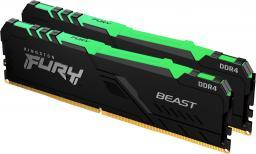 Pamięć Kingston Fury Beast RGB, DDR4, 16 GB, 3200MHz, CL16 (KF432C16BBAK2/16)