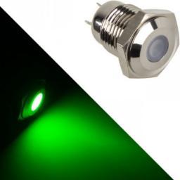 Lamptron Stainless Steel Vandal Resistant Illuminated zielona kropka (LAMP-SW2003-S)