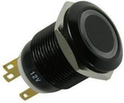 Lamptron Black Polycarbonate Vandal Resistant Illuminated biała kropka (LAMP-SW2004-H)