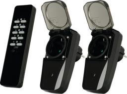 Trust Zestaw pilot i dwa zewnętrzne łączniki gniazdkowe do bezprzewodowego sterowania oświetleniem/urządzeniami na zewnątrz (AGD2-3500R)