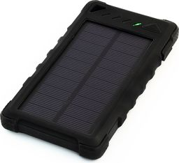 Powerbank PowerNeed Sunen Power Bank 8000mAh z panelem solarnym 0.95W, czarny (S8000B)