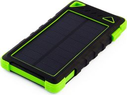 Powerbank PowerNeed Sunen Power Bank 8000mAh z panelem solarnym 0.95W, zielony (S8000G)