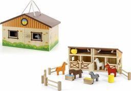 Viga Toys Drewniana Stadnina dla Koni w Walizce
