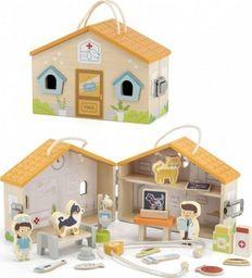 Viga Toys Drewniana Klinika dla zwierząt Szpital Weterynarz
