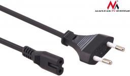 Kabel zasilający Maclean MCTV-809 2-pin 1.5m ósemka wtyk EU