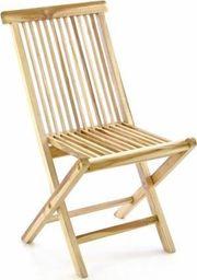 DLGTP Krzesło ogrodowe z drewna TEAK - składane