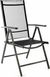 DLGTP Krzesło ogrodowe, regulowane, aluminiowe, leżak składany