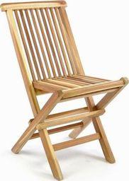 DLGTP Krzesło dziecięce ogrodowe z drewna tekowego