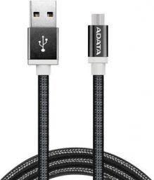 Kabel USB ADATA microUSB 1m Czarny (AMUCAL-100CMK-CBK)