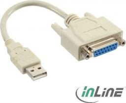 Kabel USB InLine USB A/DB15 (33101)