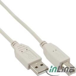 Kabel USB InLine USB-B 7m Szary (34557H)