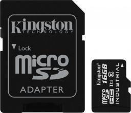 Karta Kingston Industrial MicroSDHC 16 GB Class 10 UHS-I/U1  (SDCIT/16GB)