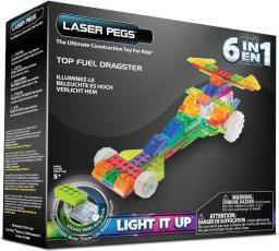 Laser Pegs Pojazd 6 w 1 Dragster (ZD130B)