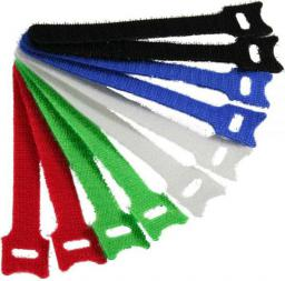 Organizer InLine Rzepy na kable do uporządkowania okablowania, 12x125mm, 10 sztuk, 5 kolorów (59943D)