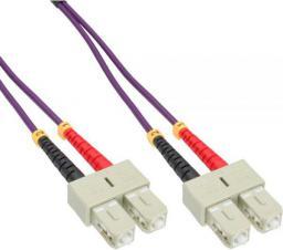 InLine Patchcord światłowodowy SC/SC, 50/125µm,  OM4 20m (83520P)