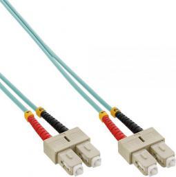 InLine Patchcord światłowodowy SC/SC, 50/125µm,  OM3 15m (83515O)