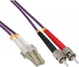InLine Patchcord światłowodowy  LC/ST 50/125µm OM4 20m (88520P)
