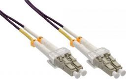 InLine Patchcord światłowodowy LC/LC, 50/125µm,  OM4 20m (88523P)