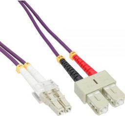 InLine Patchcord światłowodowy LC/SC, 50/125µm,  OM4 20m (88639P)