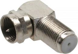 InLine Złącze F kątowe 90° męskie - żeńskie metalizowane (69807)